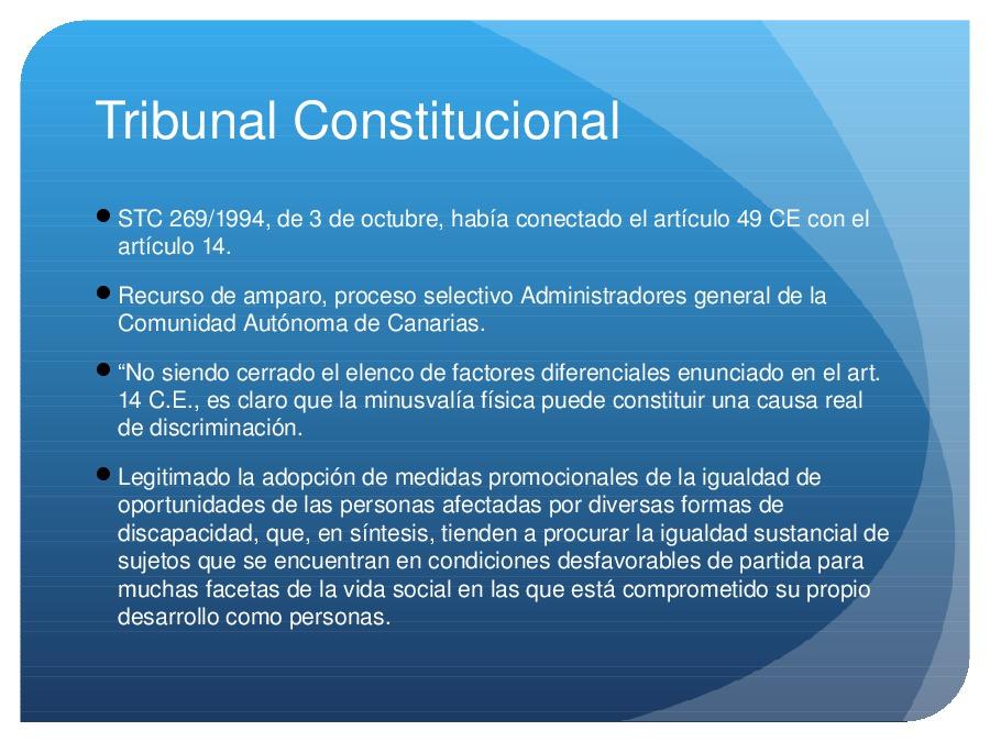 A constitucionalidade do dereito de accesibilidade